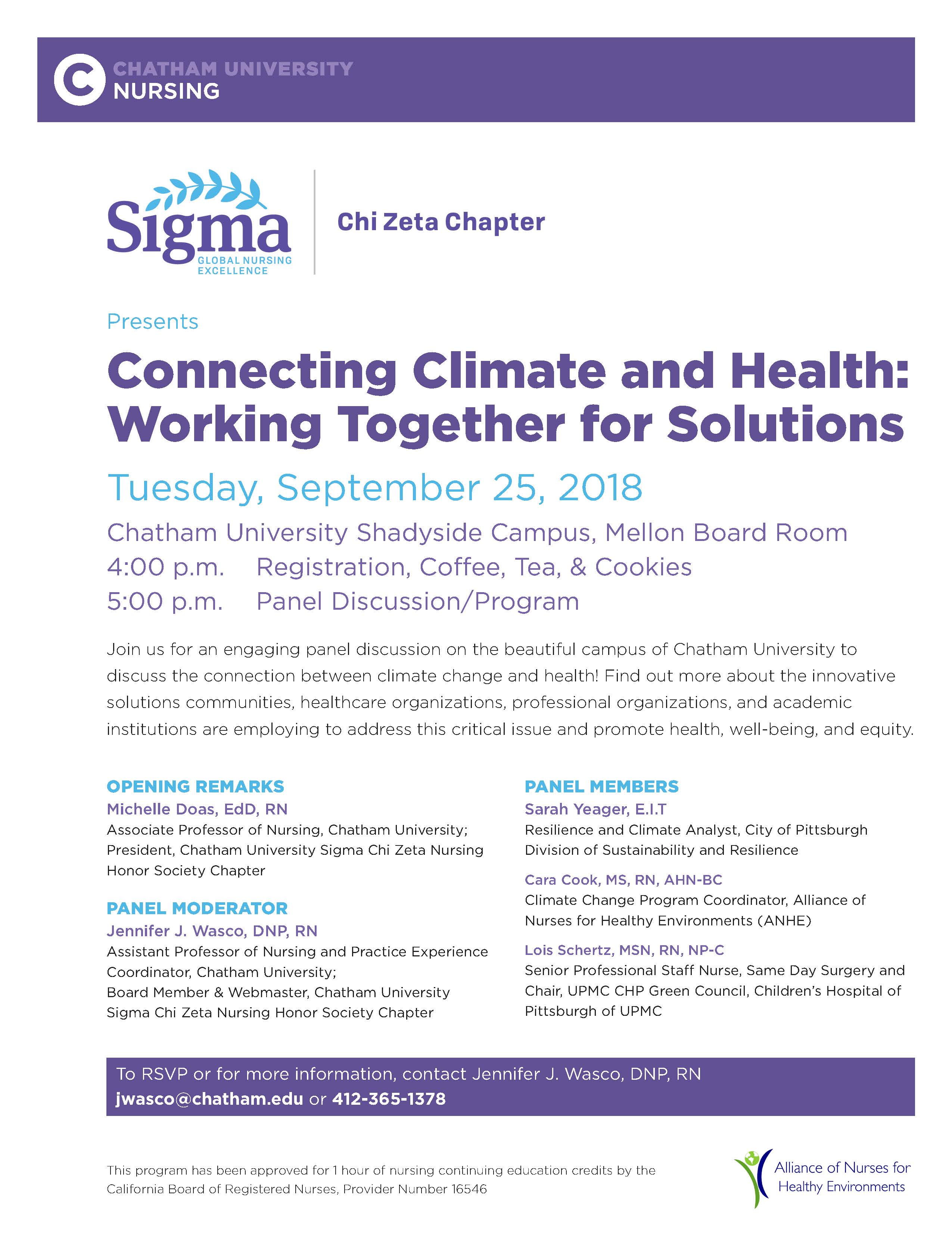 Event Details | Chatham University, Pittsburgh, PA